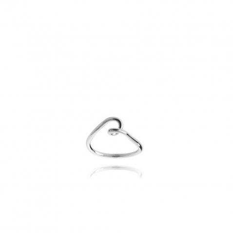 ELLA SILVER RING single | Tam. 14