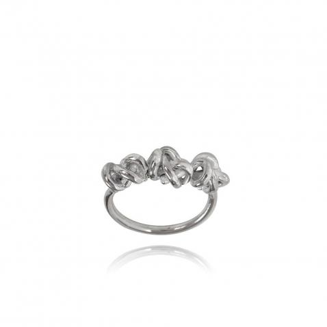 Ella Silver Ring | Knot III | Size 14