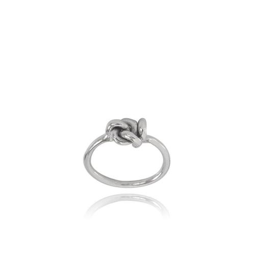 Ella Silver Ring Knot I | Size 14