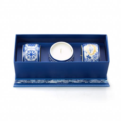 Portus Cale Gold & Blue | Candle Gift Set